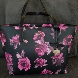 Kate Spade Hawthorne rose tote bag flower floral